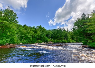 River flowing through the Adirondack River in by Cranberry Lake, New York.