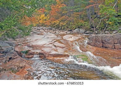 River flowing through fall color