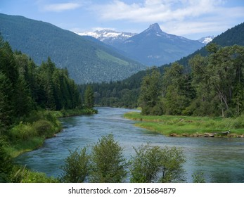 River flowing through forest, Nelson, British Columbia, Canada - Shutterstock ID 2015684879