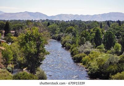 River flowing through Reno, Nevada.
