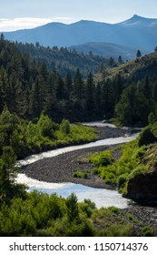 River and forest landscape along Highway 89, near Markleeville, California
