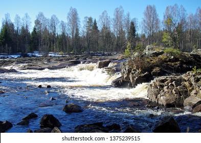 The river Västerdalälven in the Gagnef kommun in Dalarna,Sweden.