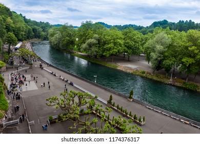 River Gave de Pau in Lourdes, France.