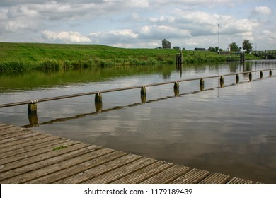 River in Groningen with natural swimming pool