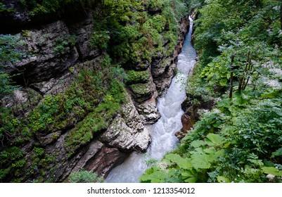 River in the Guam Gorge, Krasnodar Territory, Russia
