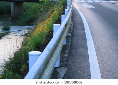 River, Guardrail and Road