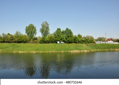 the river high Bank in Tula. spring landscape