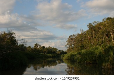 River in the jungle of kalimatan Indonesia