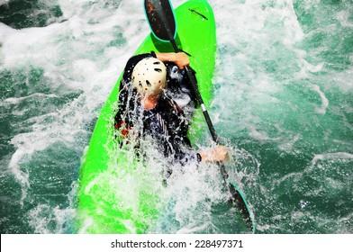 River Kayaking as extreme and fun sport
