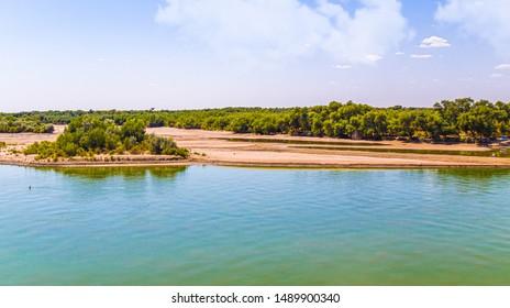 River in Kazakhstan Syr Darya. Landscape - Shutterstock ID 1489900340