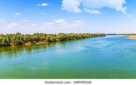 River in Kazakhstan Syr Darya. Landscape - Shutterstock ID 1489900346