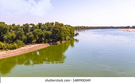 River in Kazakhstan Syr Darya. Landscape - Shutterstock ID 1489900349