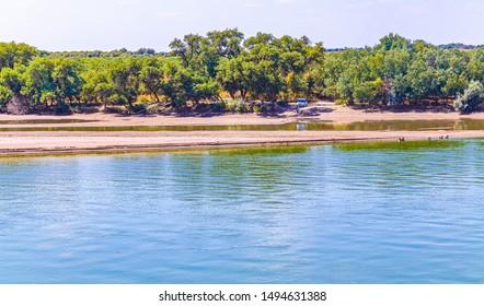 River in Kazakhstan Syr Darya. Landscape - Shutterstock ID 1494631388