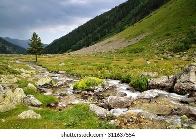 river Kichkinekol, Caucasus, Russia