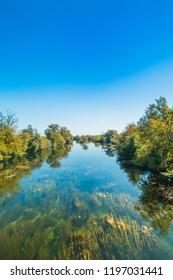 River Korana in Croatia, countryside landscape in Karlovac county
