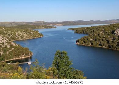 River KRKA in Croatia near the town of Skradin