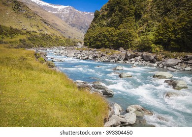 River landscape at the South Island