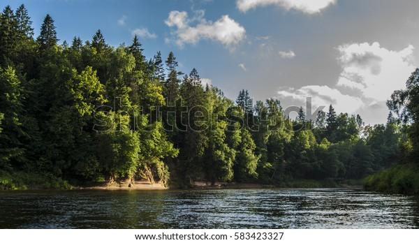 River in Latvia.