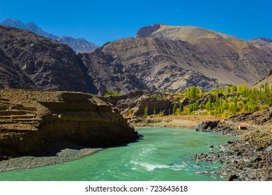 River in Leh Ladakh.