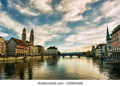 River Limmat in Zurich (Switzerland), HDR-technique