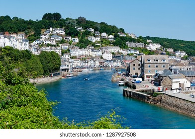 the river looe, cornwall, england, britain,