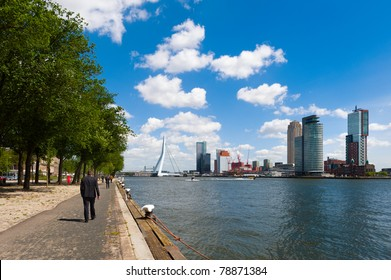 The river Maas in Rotterdam the Netherlands, Europe