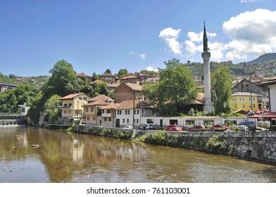 River Miljacka in Sarajevo, Bosnia and Herzegovina