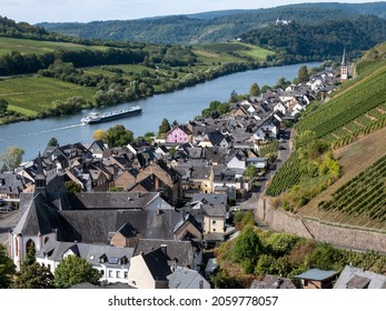 River Mosel near the village of Zell, Germany
