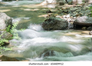River in Mount. Dirfys, Greece