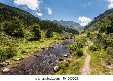River of Mourguillou, Merens-les-Vals, Ariege, France