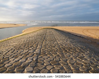 River mouth in Noord Holland