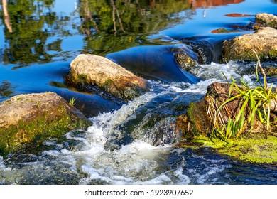 River Naab in Kallmuenz, Bavaria, Germany