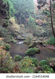 The river at nabe-ga daki, also known as nabi-ga waterfall