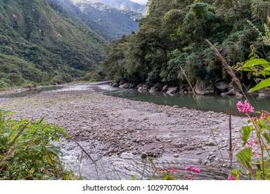 River near aguas calientes, Peru