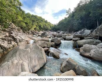River near Ba ho waterfalls in Nha Trang, Vietnam
