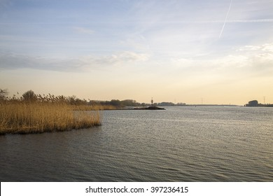 River Nieuwe Merwede, Biesbosch National Park, South Holland, Netherlands