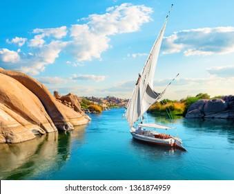 River Nile in Egypt. Aswan Africa