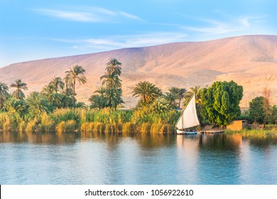 River Nile in Egypt. Luxor, Africa.