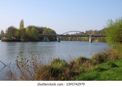 The river Oise near the city of Paris in France, Europe