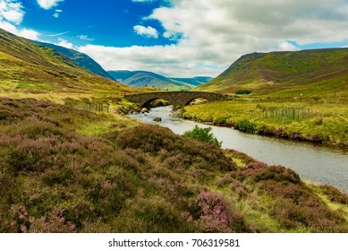 River with old bridge in Cairngorms National Park