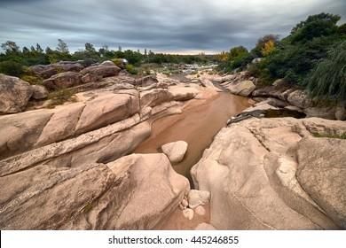 River on Cura Brochero, Cordoba, Argentina