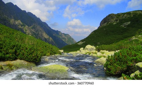 River on the mountains