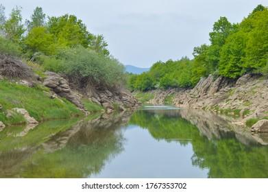 River Otesica riverbed at Veliki Zitnik. Lika, Croatia