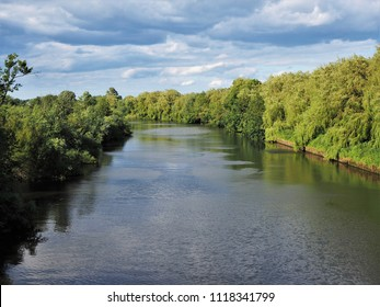River Ouse and a cloudy sky near York, England, in mid summer