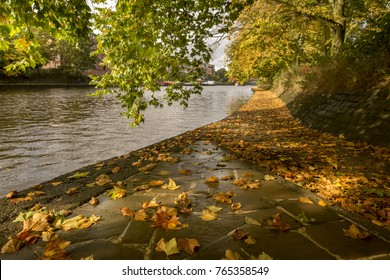 River Ouse in York England in Autumn