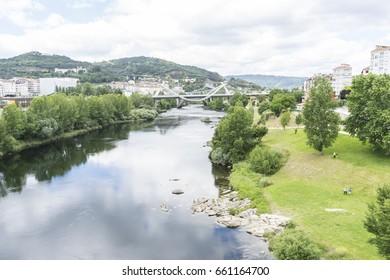 river passing through Orense Roman city located in Galicia. Spain