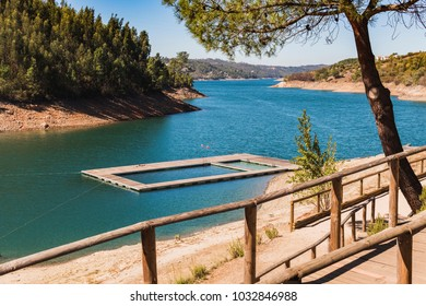 River platform swimming pool, Aldeia de Mato, Portugal