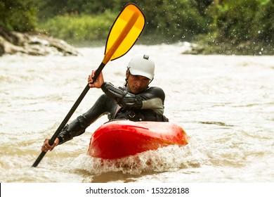 River Rafting In Kayak Ecuador South America