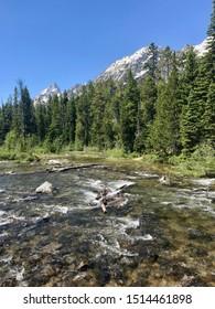 River Rapids in Grand Teton National Park, Wyoming