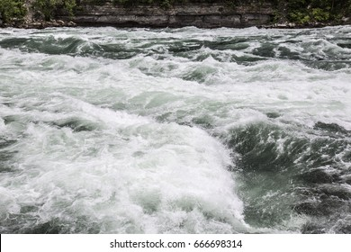 River rapids in the Niagara Falls area as seen from Canada